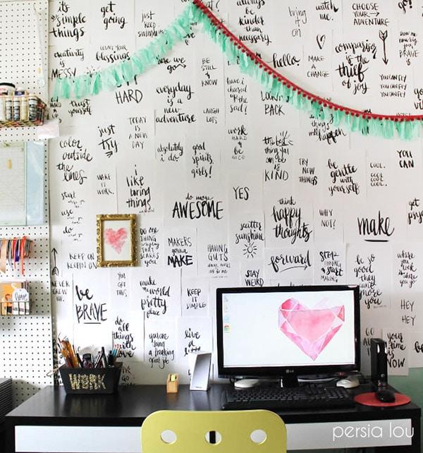 Persia-Lou-Handwritten-Notes-Wall