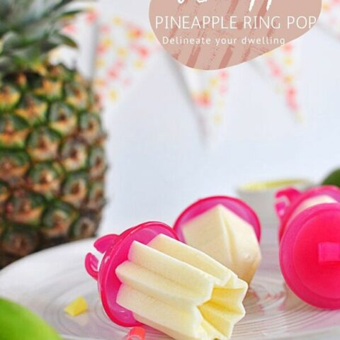 Whipped Pineapple Popsicle Ring Pops