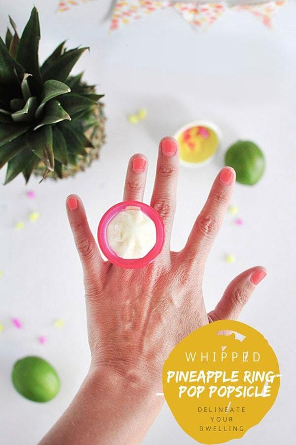 Pineapple Popsicle Ring Pops