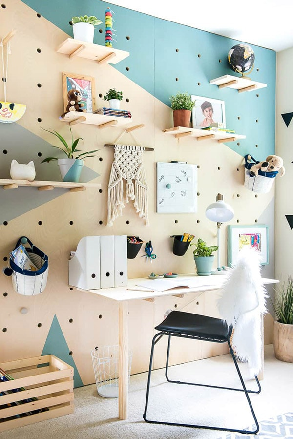 PlaceofMyTaste-plywood-pegboard-accent-wall
