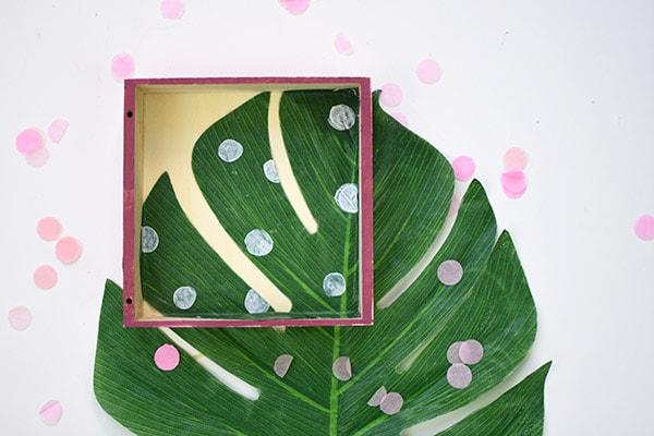 Monstera Leaf Shadowbox