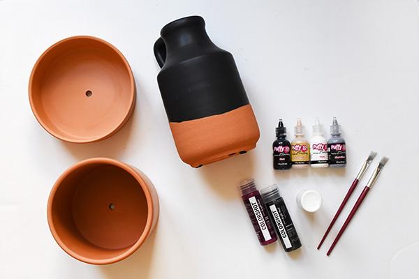 Modern Puff Paint Plant Pot supplies