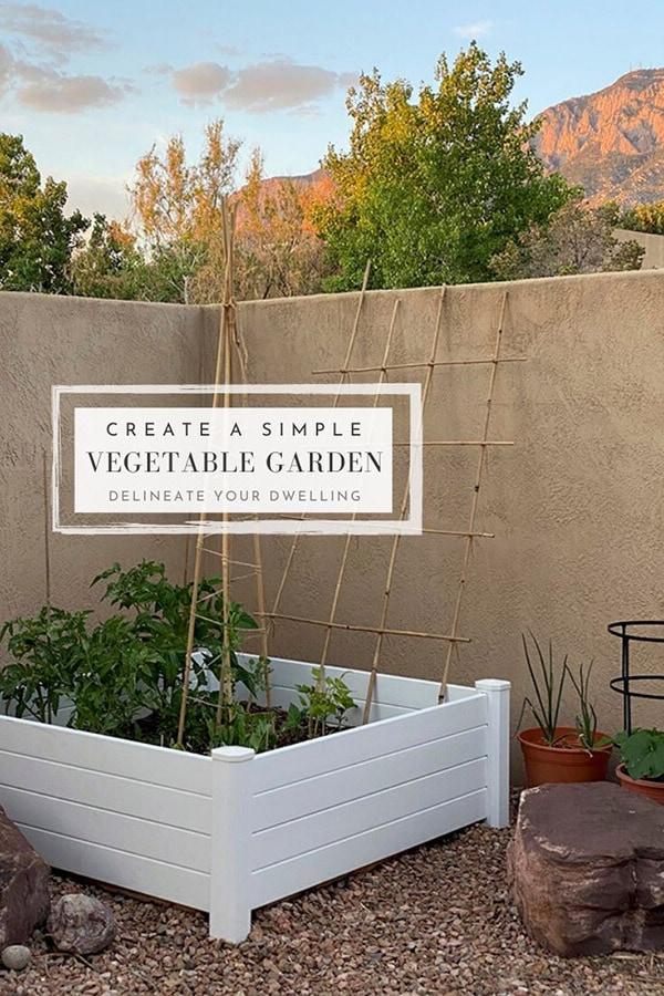 Raised Vegetable Garden in Backyard
