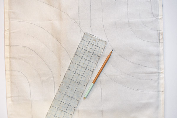 Painted Pillow step 1, pencil design