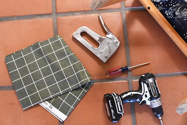 Reupholstering a Chair supplies