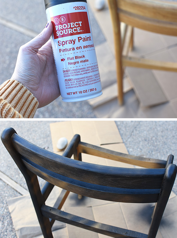 Spray Painting a Thrifted Chair
