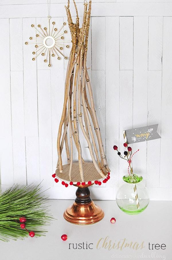 Rustic Christmas Tree Decor-1