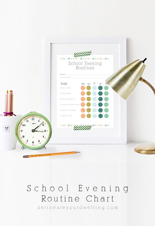 School Evening Routine Chart