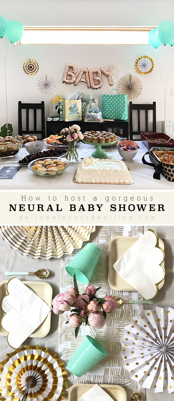 Simple Neutral Baby Shower