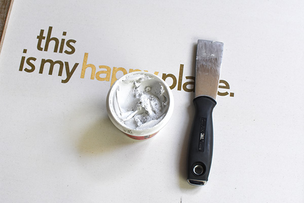 Spackle and Putty Knife