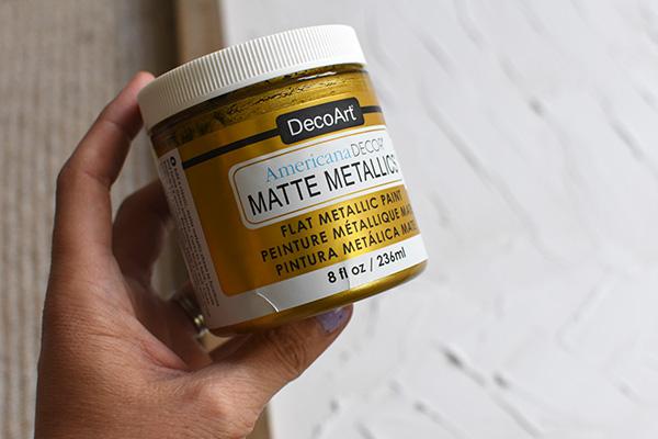 Gold Matte Metallic paint
