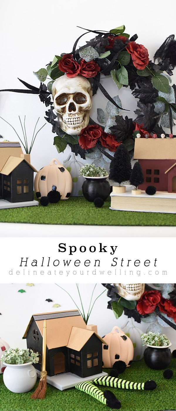 Spooky Halloween Street and Houses