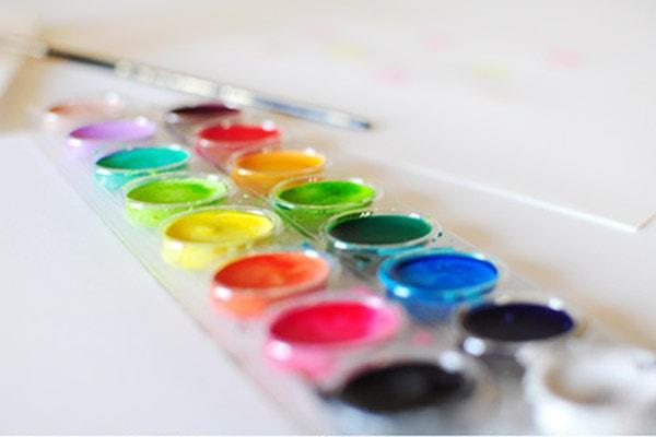 Sprinkle Birthday Hat watercolor painting step1