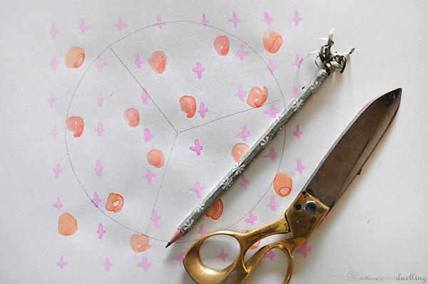 Watercolor Paint Patterns, Pencil, Ruler