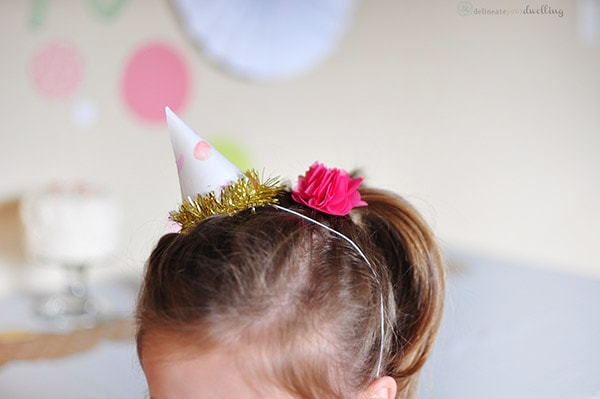 Sprinkle Party Hat little girl