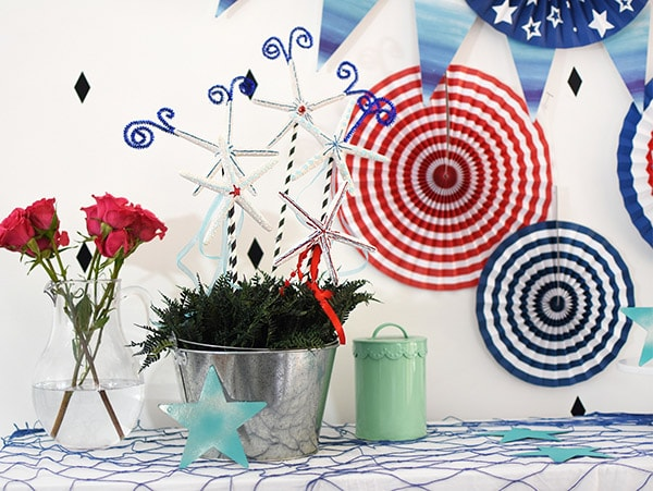 Red White Blue Pinwheels