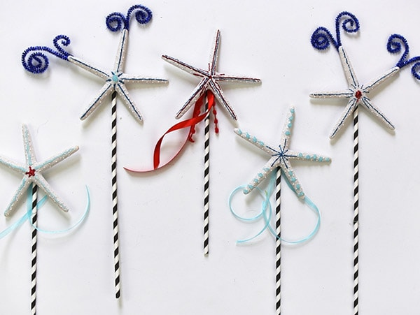 Firework Starfish Straws