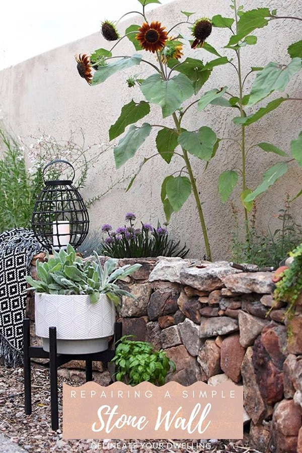 Simple Outdoor Stone Wall repair