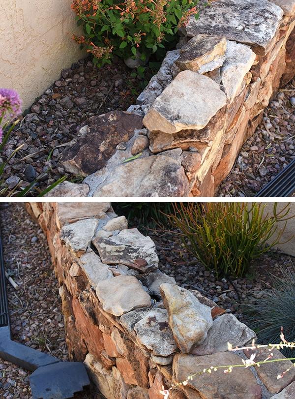 Stone Wall repair - loose stones
