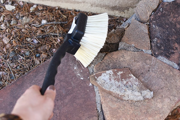 Stone Wall repair - hard bristle brush