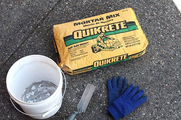 Stone Wall repair - supplies