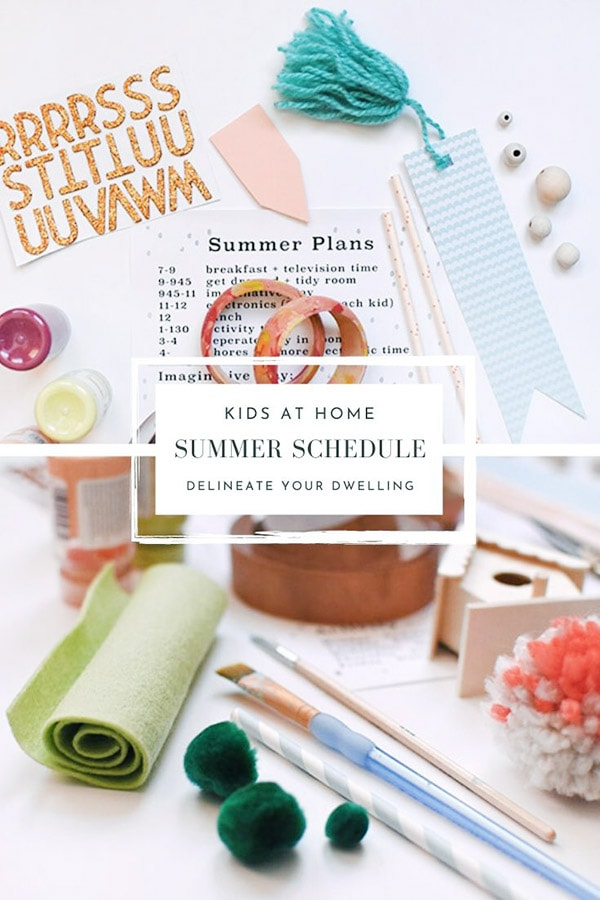 Summer Kid Schedule Quarantine Printable