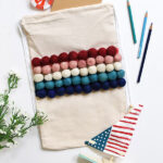 Fourth of July Summer Pom Pom Bag
