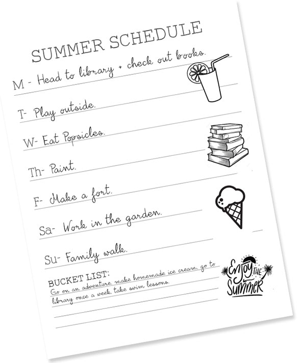 Summer Schedule-post