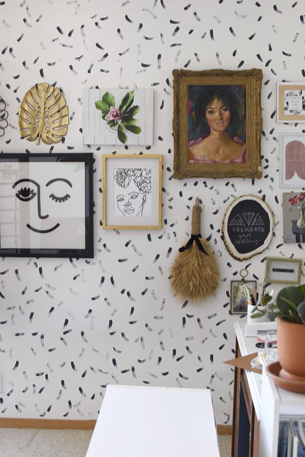 Brushstroke Gallery Wall
