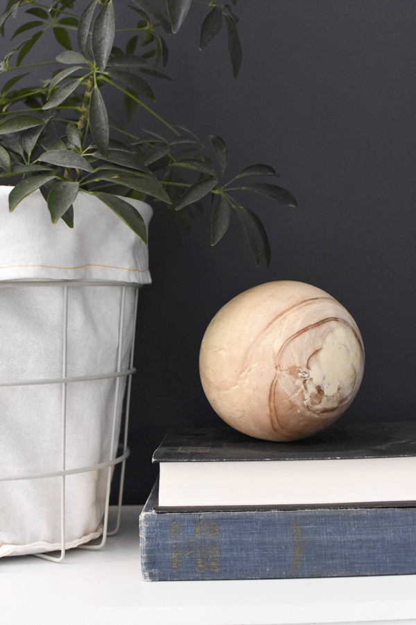 Wooden Ball and books