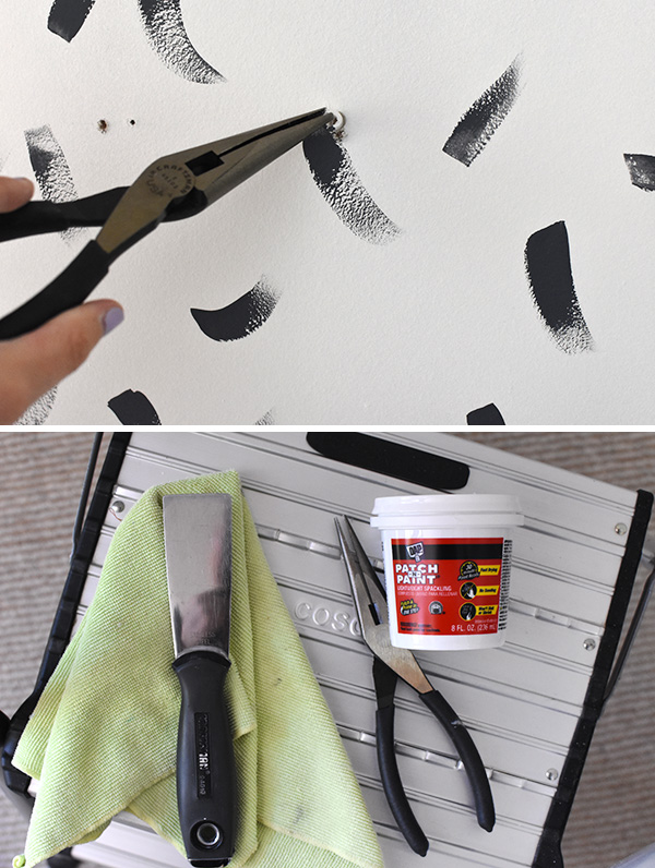 Needle Nose Pliers and Spackle
