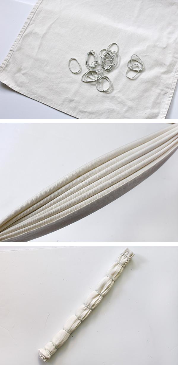 Tie Dye Stripe Fold Technique