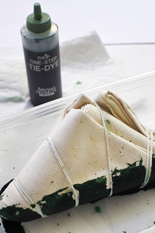 Green Shibori Tie Dye Pillow