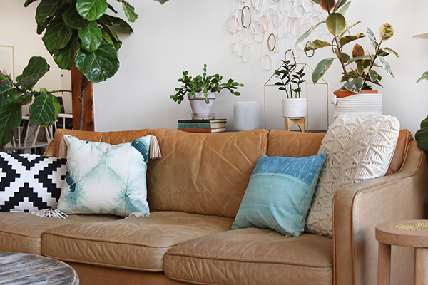 Green and Blue tie dyed pillows