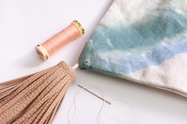 Sewing on a Tassel