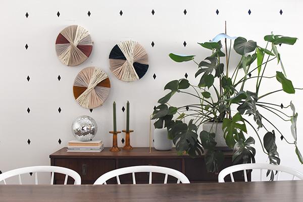Dining Room with Yarn art