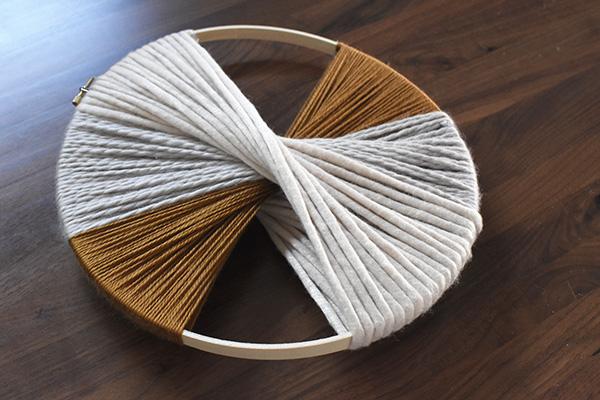 Gold and cream yarn