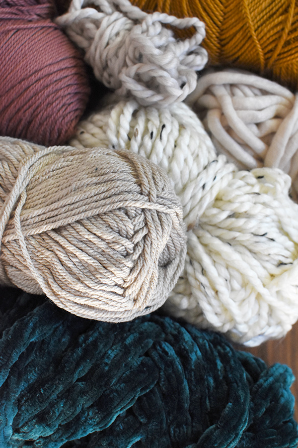 Muted yarn colors