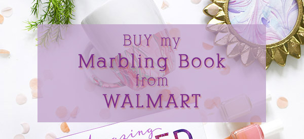 Buy my Marbling Book from Walmart