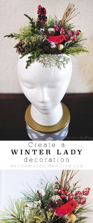 Winter Lady decoration