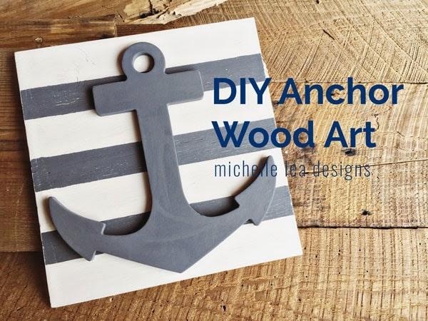DIY anchor wood art wall