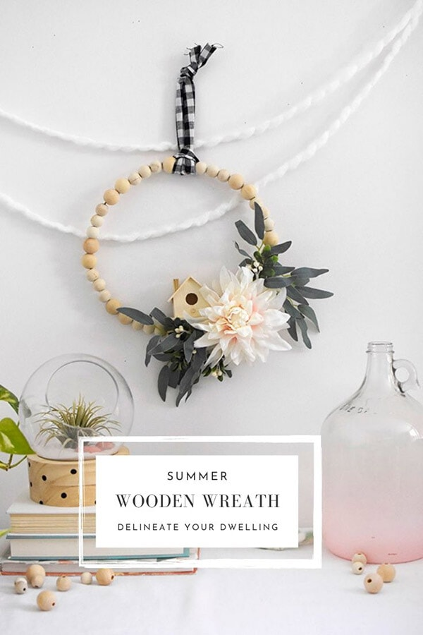 Bohemian Floral Wooden Wreath