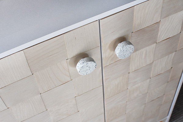 Terrazzo round knobs