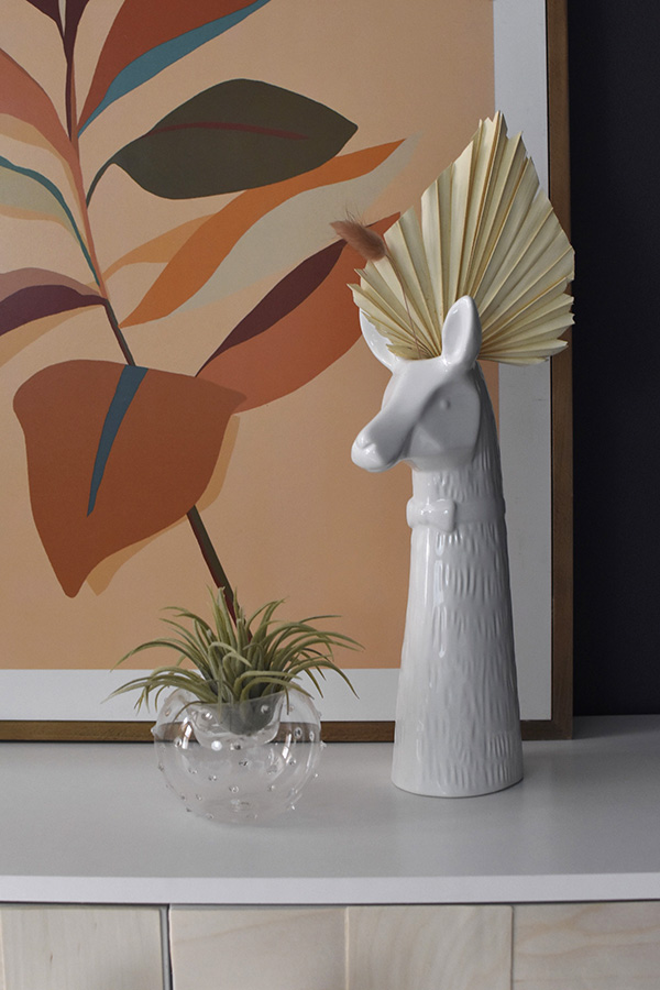 Llama flower vase