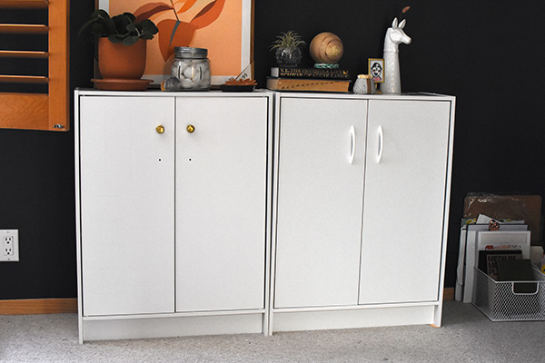 Simple White Storage Cabinets