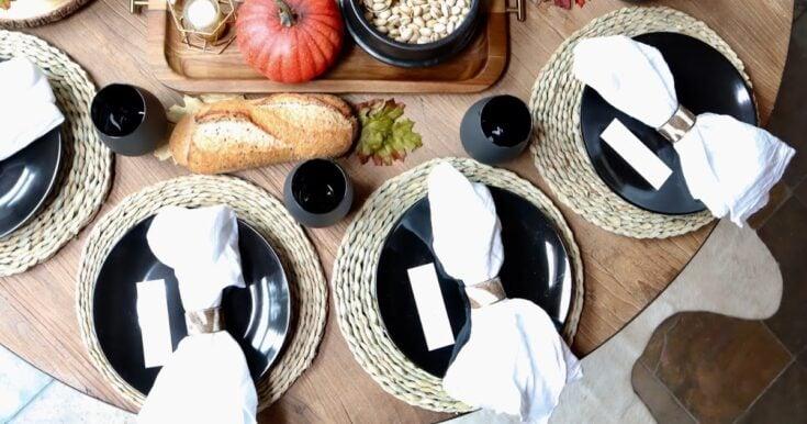 Fall harvest table setting ideas