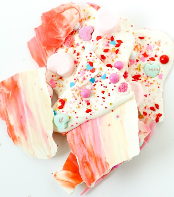 Bake It - Marbled Valentine's Chocolate Bark